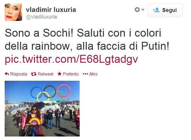 vladimir luxuria arrestata sochi bandiera gay
