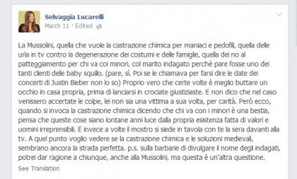 Alessandra Mussolini Mauro FLoriani baby squillo 2