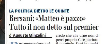 Augusto Minzolini Bersani Renzi Pazzo