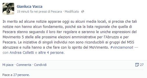 MoVimento 5 Stelle Abruzzo regionali 4