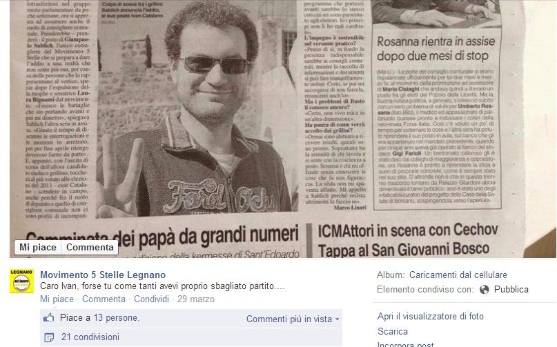MoVimento 5 Stelle Ivan Catalano Consigliere Busto 2