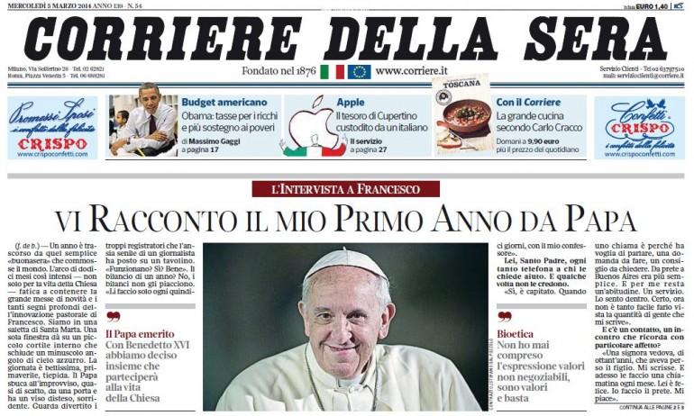 corriere della sera intervista papa francesco
