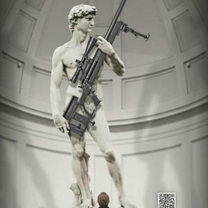 david pubblicità fucile