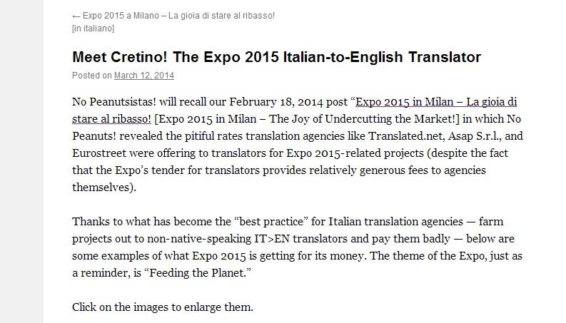 errori traduzione expo 8
