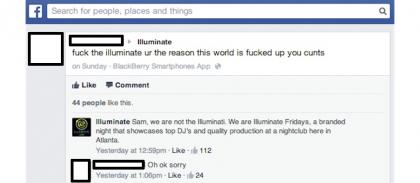 illuminati sbagliati discoteca facebook 1