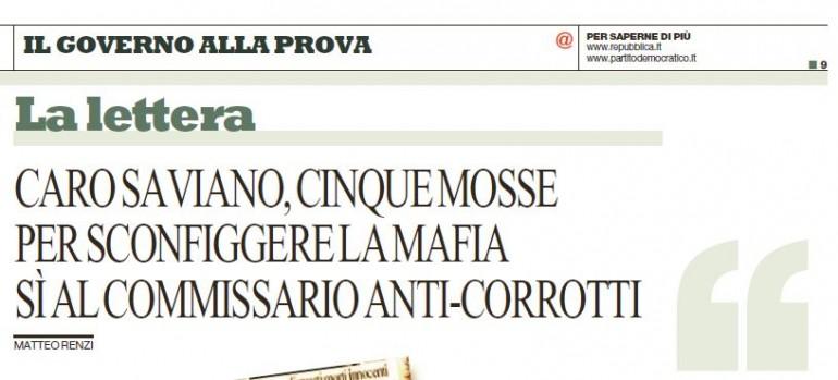 matteo renzi roberto saviano mafia 2