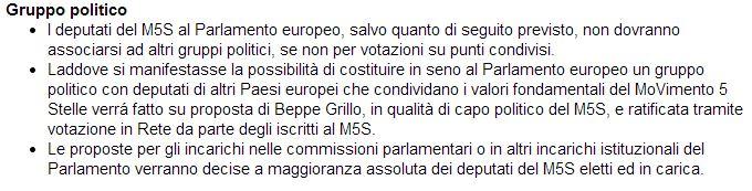 movimento 5 stelle regole candidature europee 1