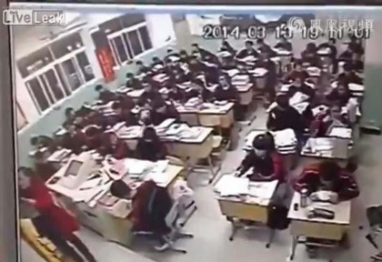 studente cinese suicidio in classe (1)