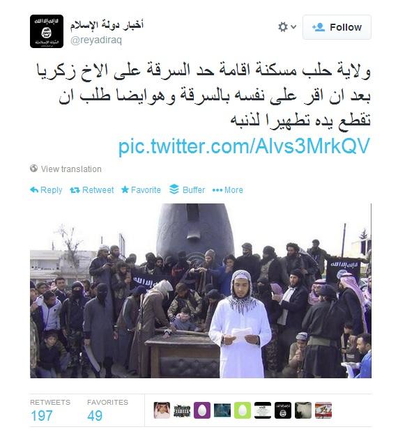 twitter siria amputazione mano