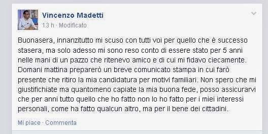 Madetti sfiduciato MoVimento 5 Stelle Bari