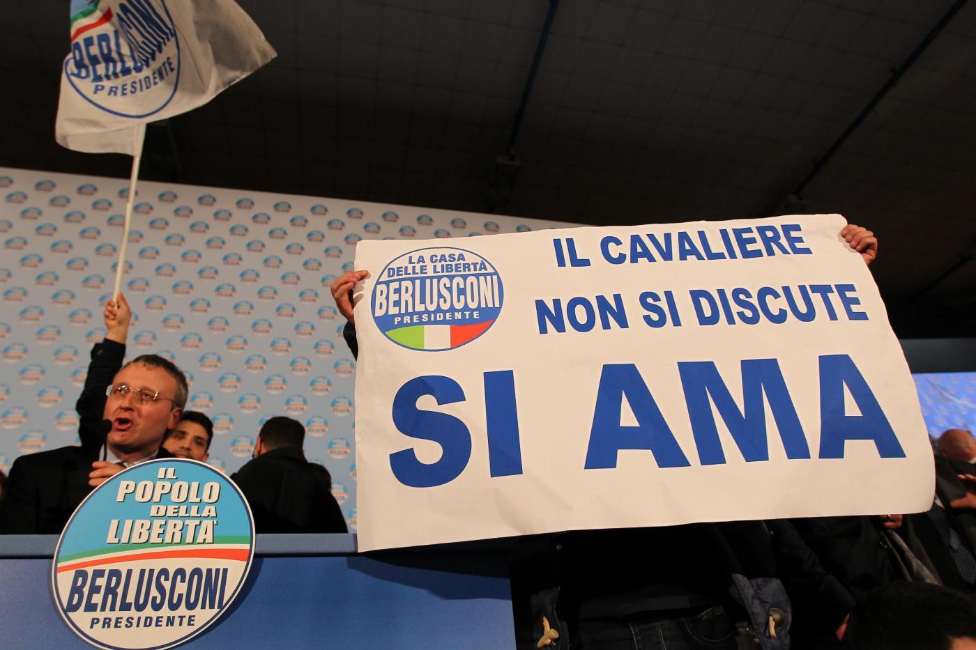 Chiusura campagna elettorale del PDL a Napoli