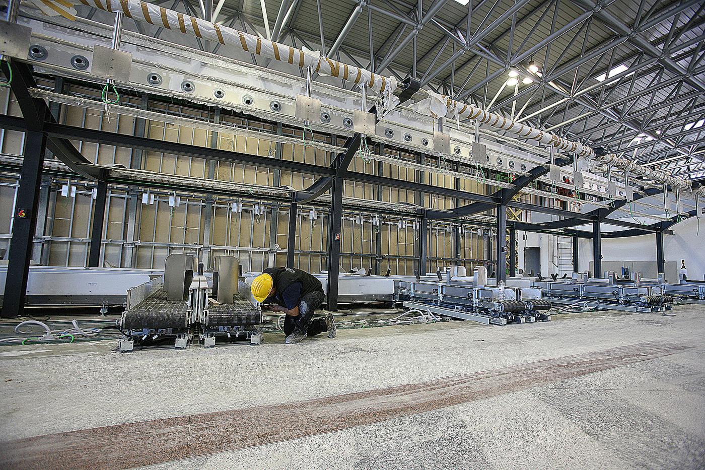 I lavori di ampliamento dell'aerostazione del 2008