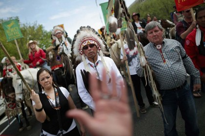 Oleodotto Keystone XL protesta Washington