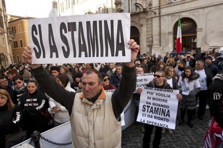 Stamina, manifestanti bloccano a Roma Largo Chigi