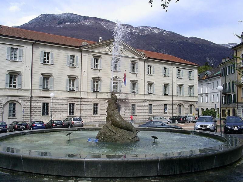 La sede del Canton Ticino  a Bellinzona