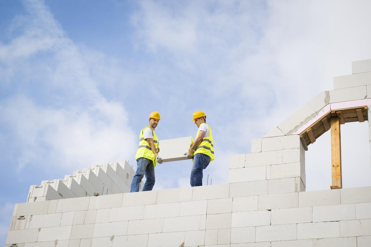 Фотоотчет строительства дома из газобетонных блоков