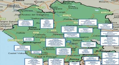mappa camorra casalesi provincia caserta