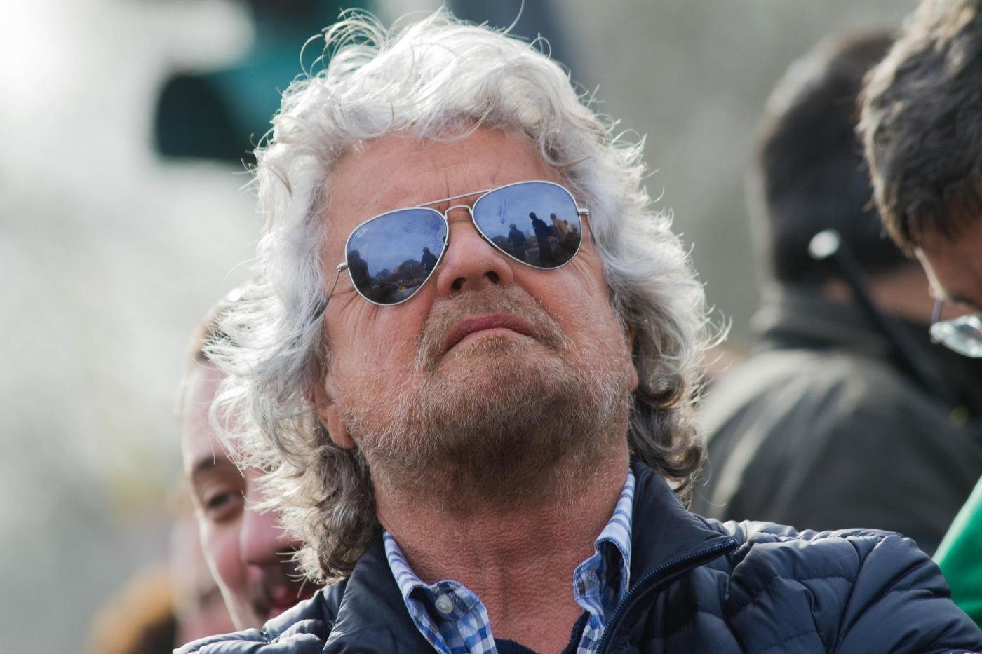 Intervento di Beppe Grillo al Parco delle Cave a Milano