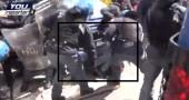 Sgombero Montagnola: il video delle manganellate sul manifestante a terra