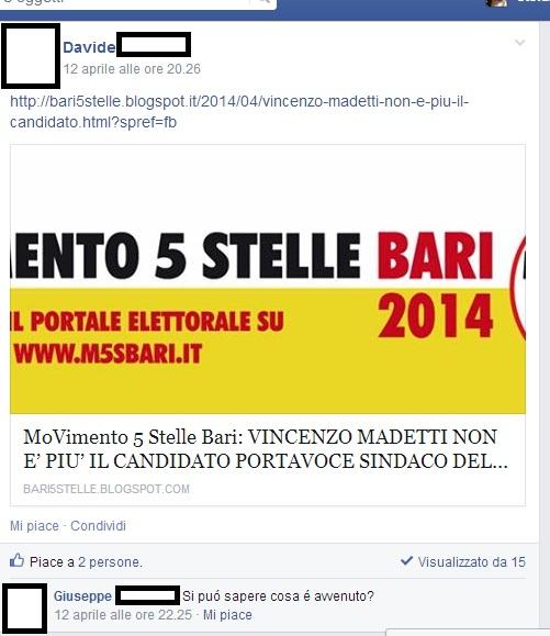 sfiduciato candidato sindaco bari movimento 5 stelle 3