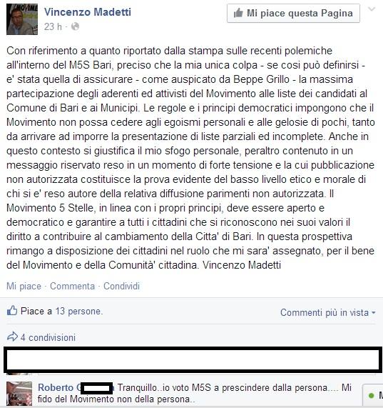 sfiduciato canidato sindaco bari movimento 5 stelle 3