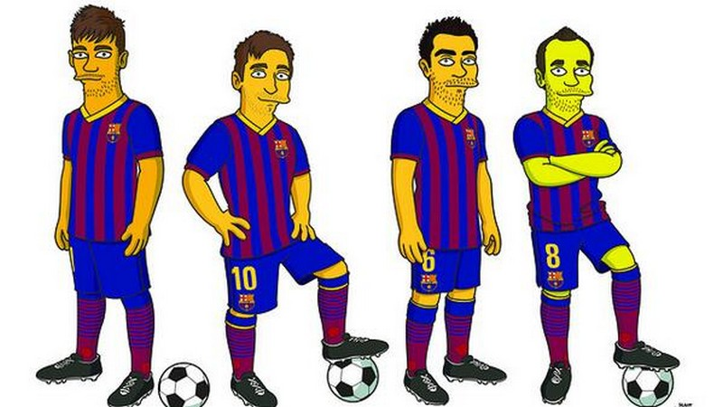 Il Barcellona in formato Simpson