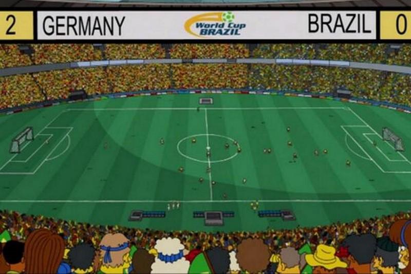 Il risultato finale. Germania 2 - Brasile 0