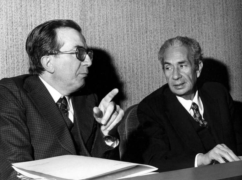 Giulio Andreotti con Aldo Moro