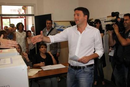 Elezioni europee 2014, Matteo Renzi al voto