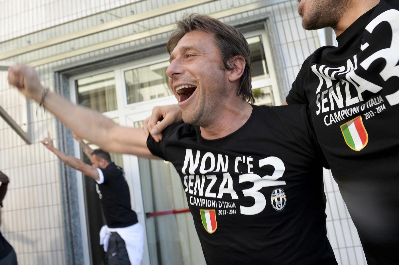 La festa per il trentesimo scudetto della Juventus