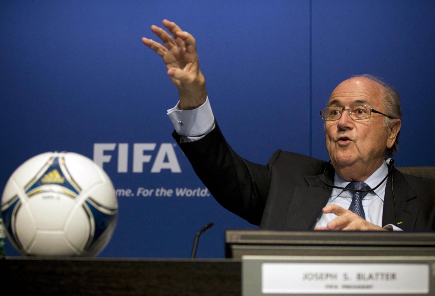 Sepp Blatter si candida alla presidenza della Fifa