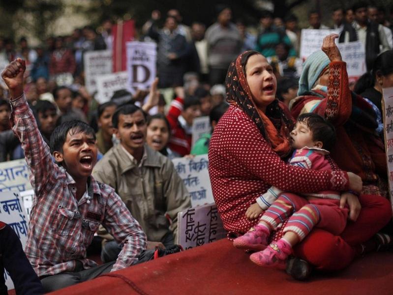 India.Proteste per lo stupro di gruppo