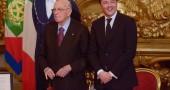 Giorgio Napolitano e Matteo Renzi al giuramento del Governo Renzi - Foto: Giorgio Cosulich/Getty Images