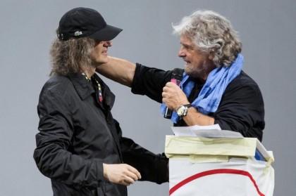 Gianroberto Casaleggio e Beppe Grillo (Roberto Monaldo / LaPresse)