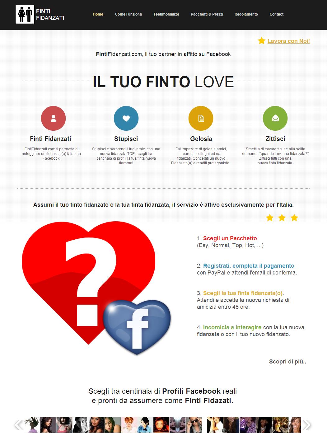 Il sito dove puoi comprare finti fidanzati su facebook for Che tipo di prestito puoi comprare terra