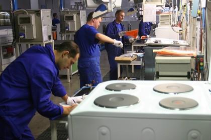 Inaugurazione del nuovo stabilimento di frigoriferi di Merloni Elettrodomestici