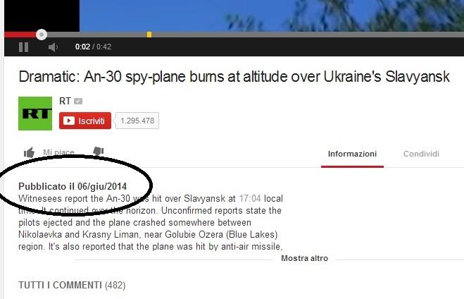 aereo ucraina abbattuto missile 13