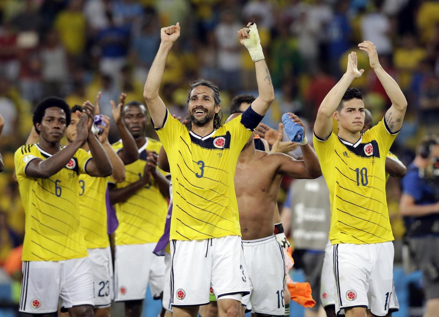 Mario Yepes, capitano della Colombia (Lapresse-AP Photo/Antonio Calanni)