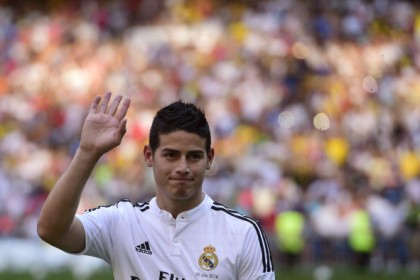 James Rodriguez, trasferito nel 2014 dal Monaco al Real Madrid  per 80 milioni di euro (Photocredit:  •	James PIERRE-PHILIPPE MARCOU/AFP/Getty Images)