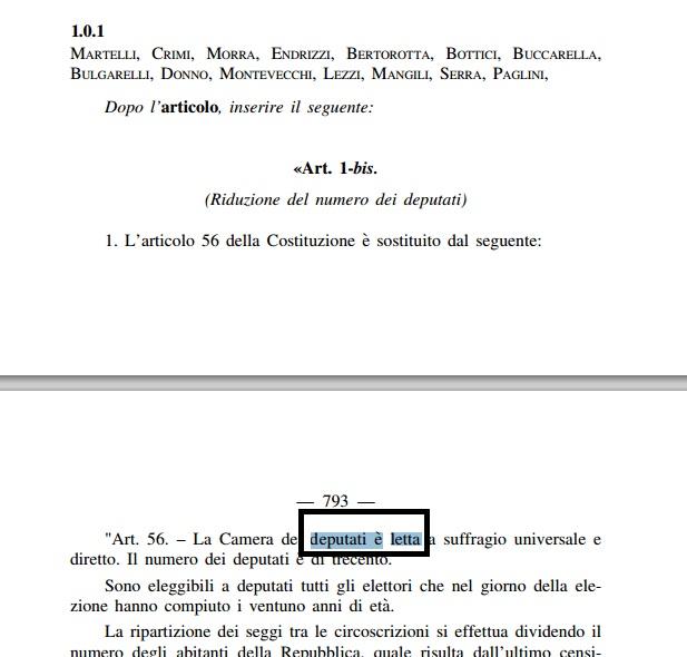 emendamenti letta