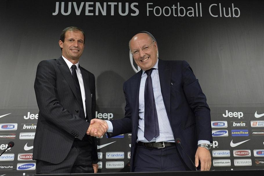 Conferenza stampa del nuovo allenatore della Juventus Massimiliano Allegri