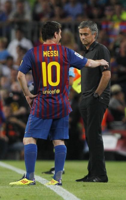 Lionel Messi, Jose Mourinho