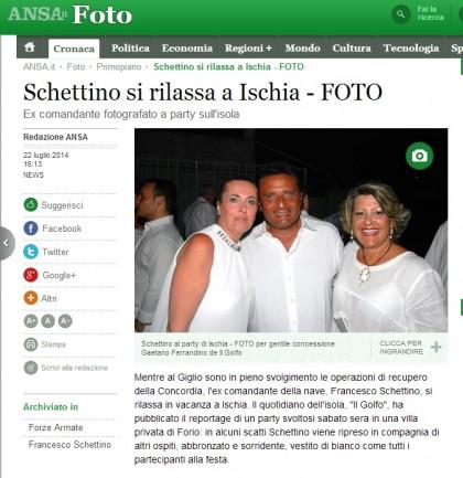 Foto: Gaetano Ferrandino/Il Golfo via ANSA