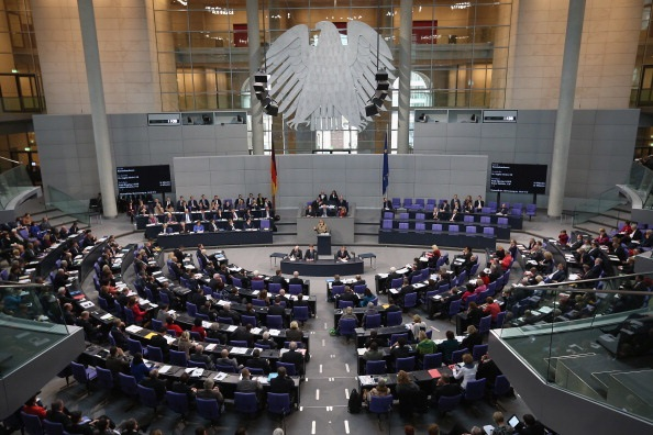 Il Bundestag tedesco, eletto a metà in collegi uninominali maggioritari e altra metà in liste bloccate a riparto proporzionale (Photocredit: Sean Gallup/Getty Images)