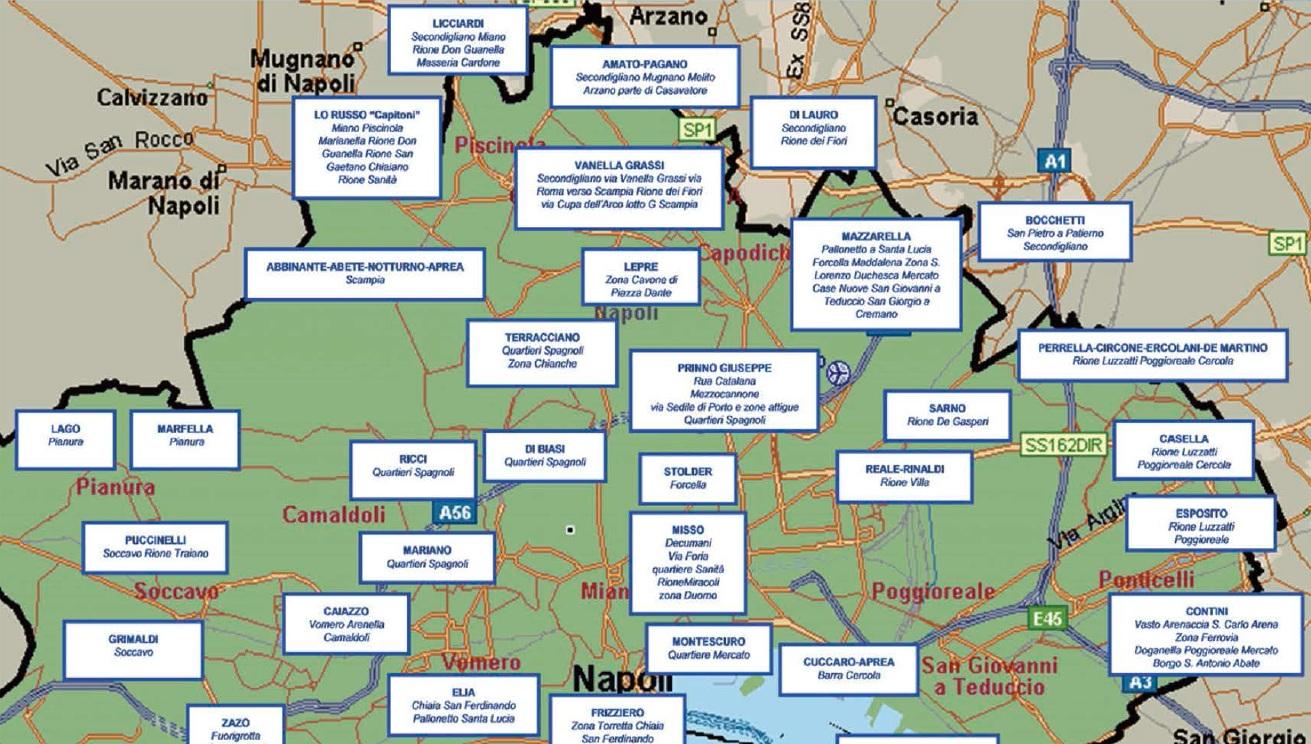Mafia 39 ndrangheta camorra la nuova mappa dei clan for Finanziamento della costruzione di nuove case