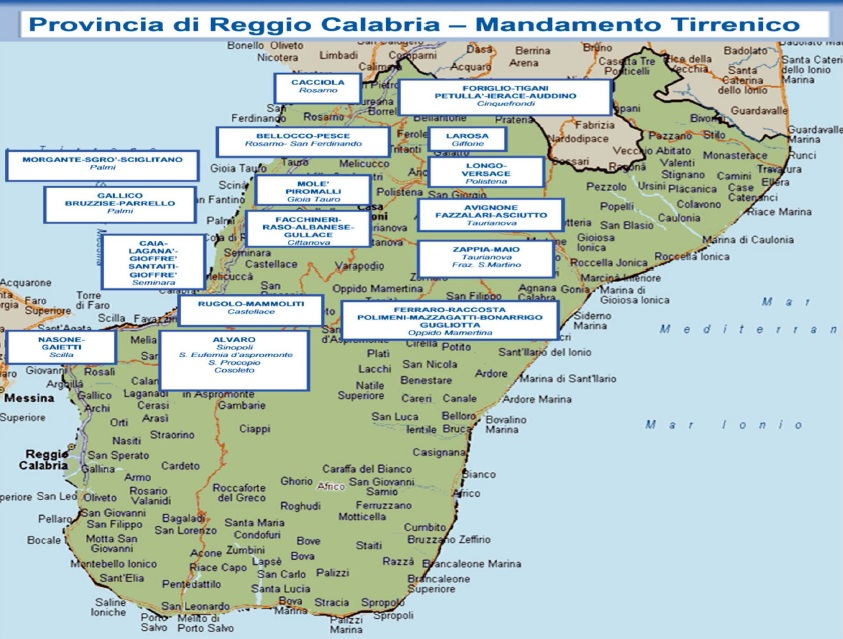 mappa 'ndrangheta 01 reggio calabria provincia