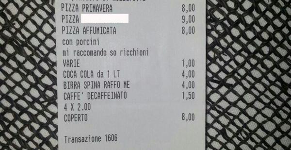 Scontrino omofobo: licenziato il cameriere di Maruggio