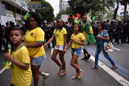 Manifestazioni di protesta in Brasile, YASUYOSHI CHIBA/AFP/Getty Images