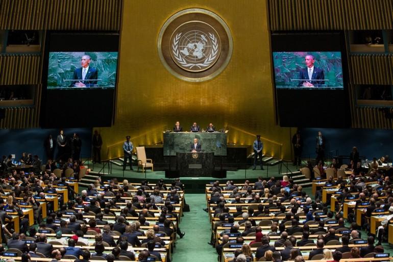L'annuale Assemblea Generale dell'ONU ascolta Barack Obama
