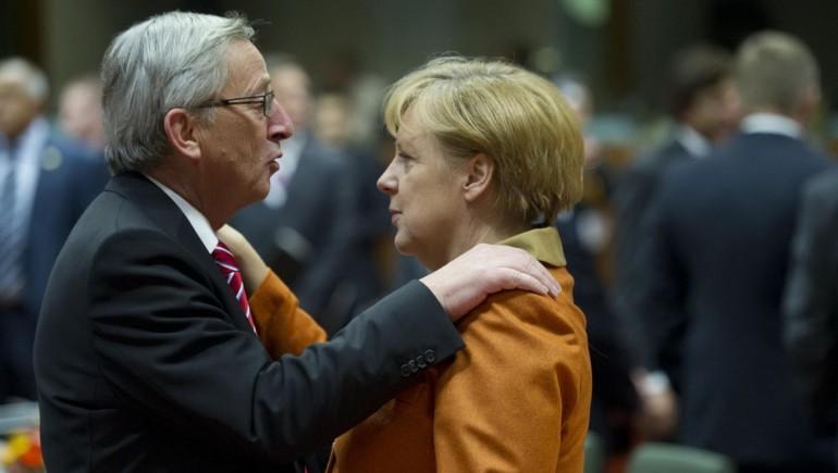 Jean-Claude Juncker e Angela Merkel, Photo/Geert Vanden Wijngaert